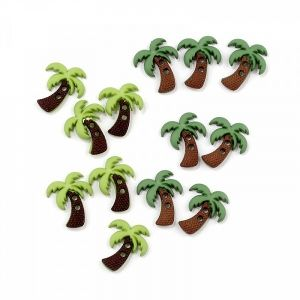 Набор пуговиц JESSE JAMES ASSORTED ITEMS-SC PALM TREES
