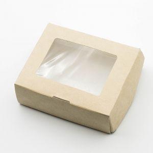 Купить Коробка с окошком, 100х80х30мм дешево в интернет-магазине в Москве
