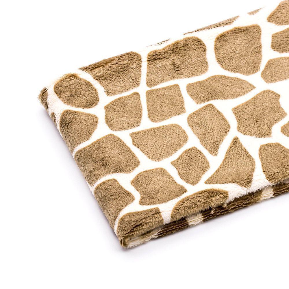 Ткань плюш жираф, цвет светло-коричневый